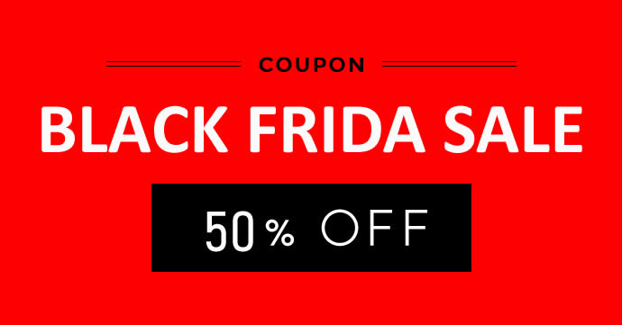 BLACK FRIDAY - 50% OFF!