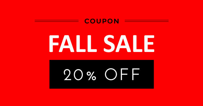 FALL OFFER - 20% OFF