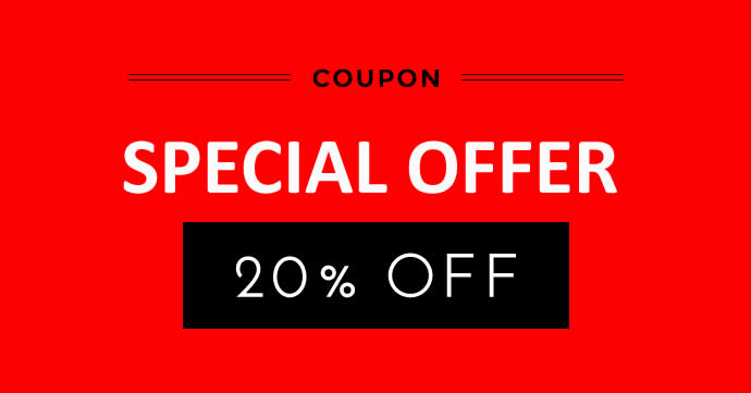 LIMITED TIME OFFER - 20% OFF